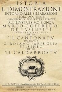 Antica edizione del sillabario del Caldarrosta