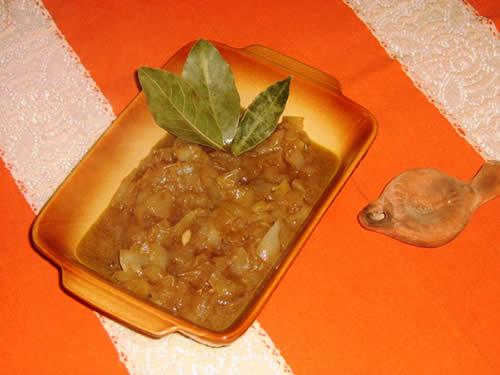 Zuppa di cipolle alla Lucrezio preparata da Dionisius